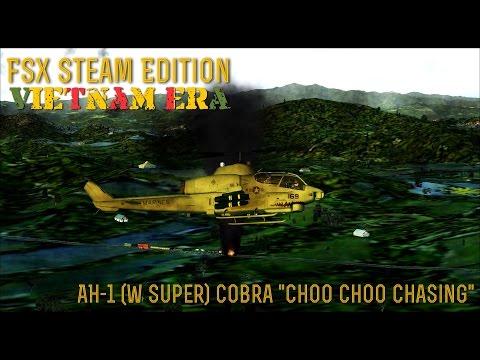 "[FSX SE] VIETNAM ERA: AH-1 (W Super) Cobra ""Choo Choo Chasing"""