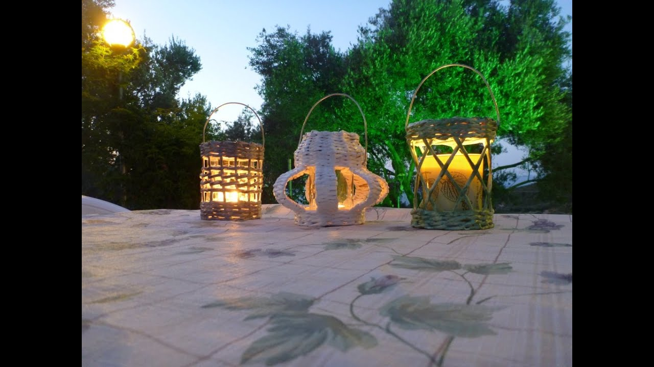 Lanterne Da Giardino Fai Da Te : Tutorial lanterne tipi youtube
