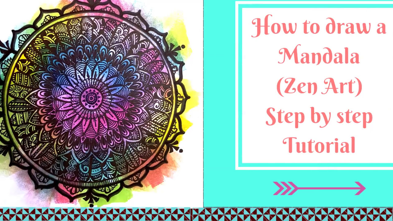 How to draw a Mandala (Step by Step Process) - YouTube