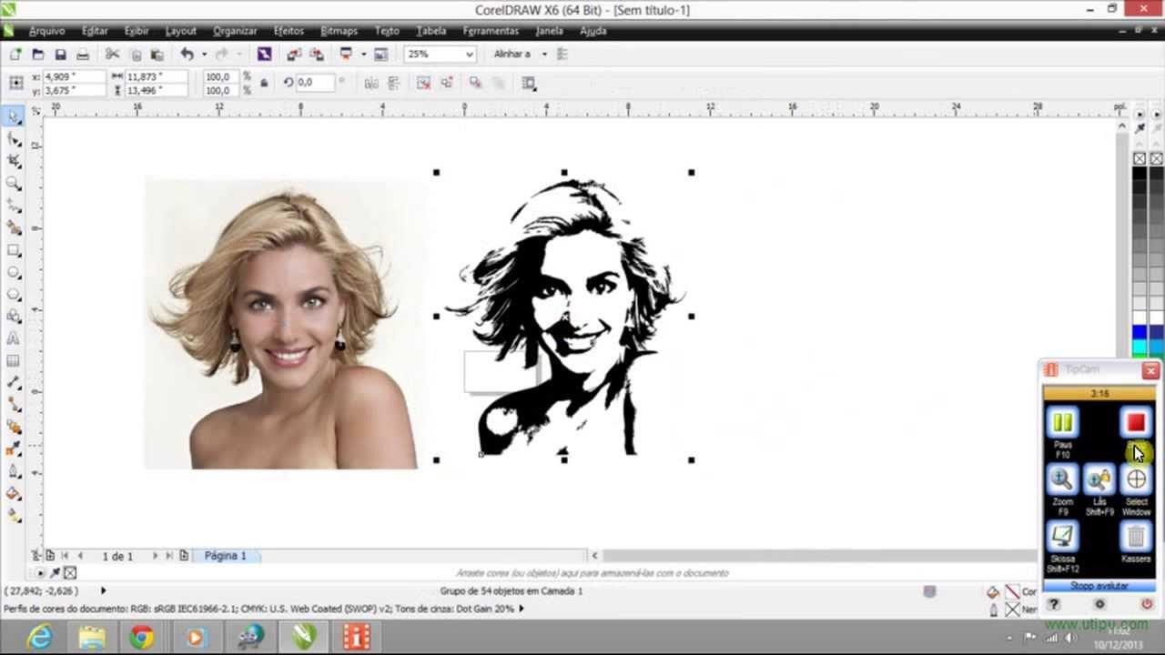 Transformando imagem em desenho CorelDrawX6 - YouTube