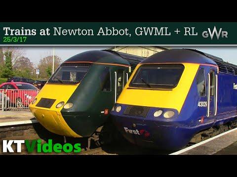Trains at Newton Abbot, GWML + RL - 25/3/17