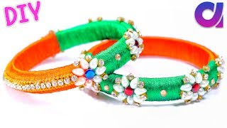 diy jewelry ideas | How to make silk thread bangles by reusing old bangles | Artkala 235