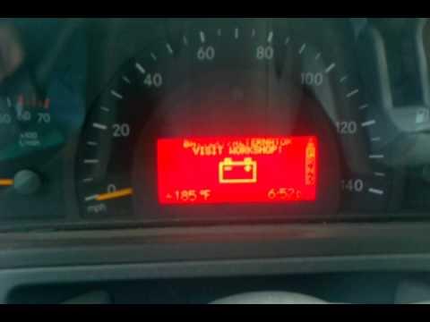 2002 G500 Battery Alternator Warning