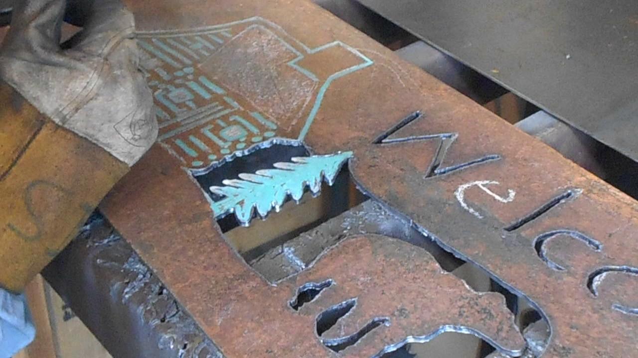 Hand Cut Plasma Metal Art