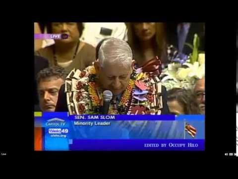 Hawaii 2015 Minority Report Sam Slom