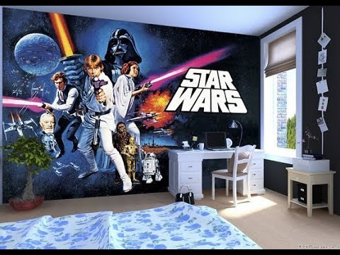 Star Wars Bedroom Design Ideas Tour 2018 | Themed Bedroom Mural Makeover  Furniture Paint Decor DIY