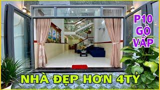 Bán nhà Gò Vấp |438] Căn nhà 4 lầu tuyệt đẹp tặng full nội thất Quang Trung P10 giá hơn 4 tỷ quá rẻ