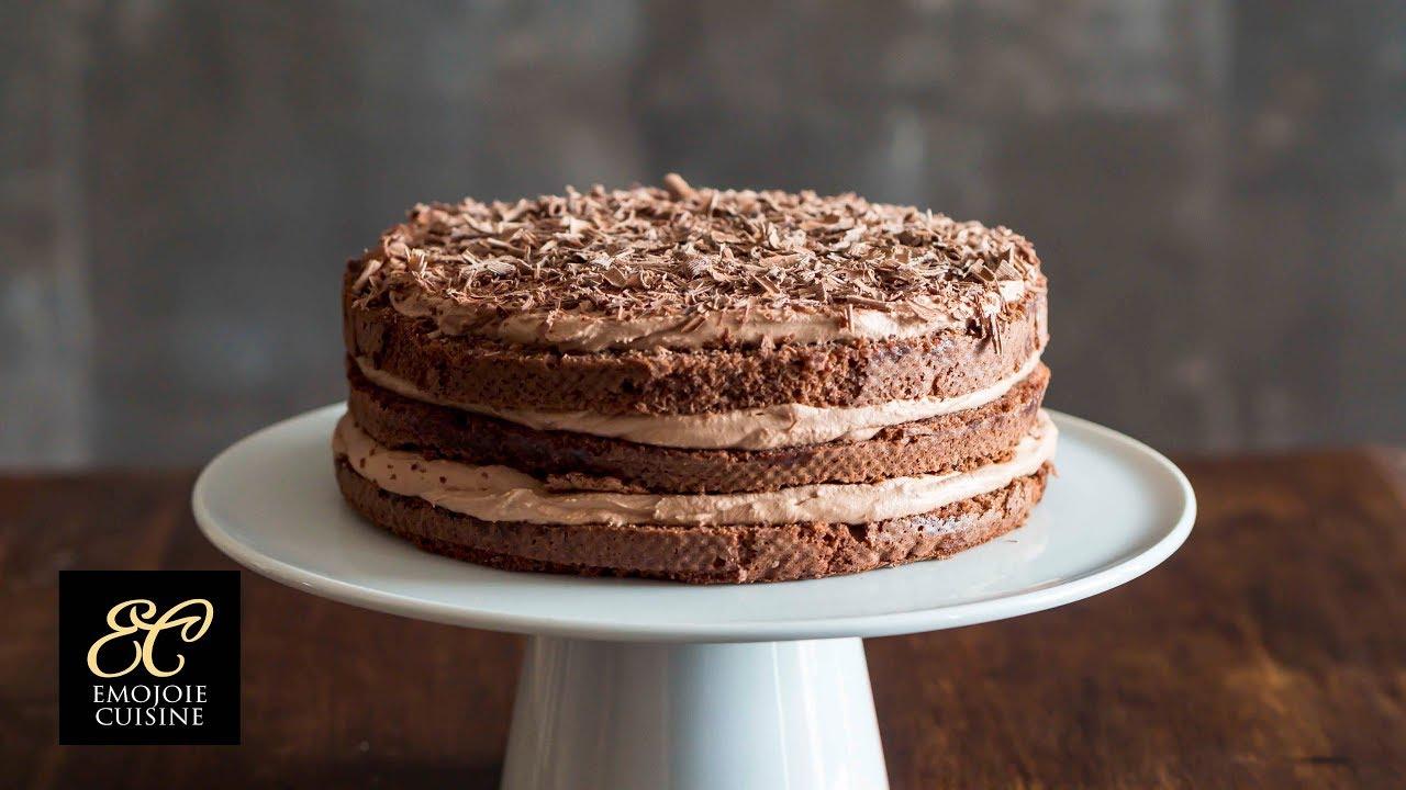 シンプルなチョコレートケーキの作り方