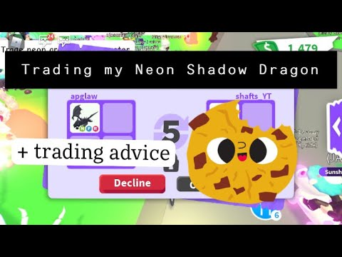 Trading my NEON SHADOW DRAGON in a Rich server + Trading Advice