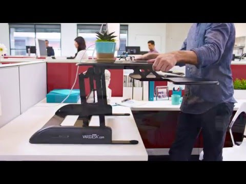 Stand Up Desk - VARIDESK Pro Plus 36 Standing Desk