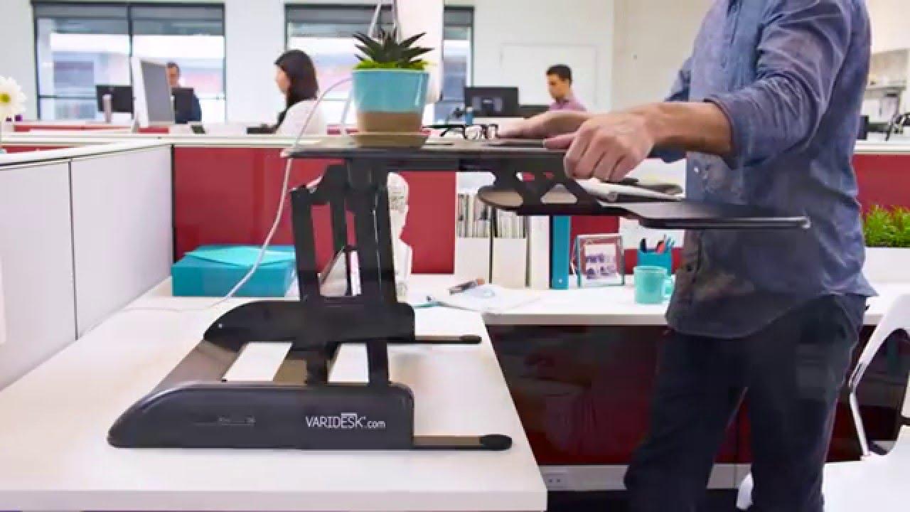 Stand Up Desk  VARIDESK Pro Plus 36 Standing Desk  YouTube