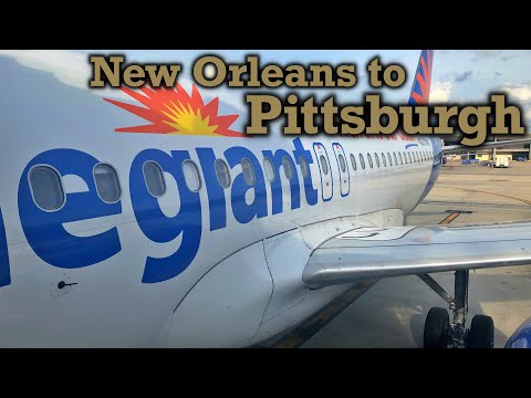 Full Flight: Allegiant Air A319 New Orleans To Pittsburgh (MSY-PIT)