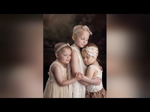 Thumbnail: Girls With Cancer, 6, 7 and 9, Recreate Sweet Images To Raise Awareness