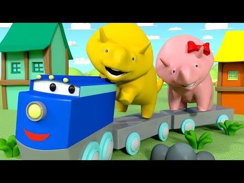 Apprend les couleurs - Dino et Dina apprennent la couleur jaune - Dino le Dinosaure 👶 Dessin animé