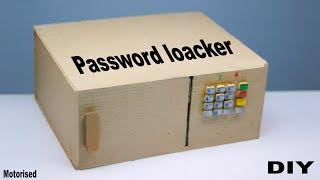 how to make electric security Locker  || DIY Cardboard Password Lock