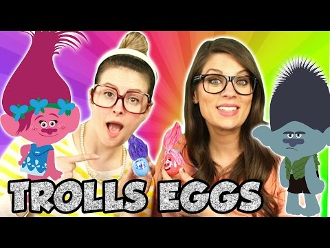 Trolls Poppy & Branch DIY Easter Eggs! | Arts and Crafts with Crafty Carol