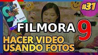 Cómo Hacer Un Video Con Fotos Y Música De Fondo Usando Filmora9. Tutorial 31 Español (2019)