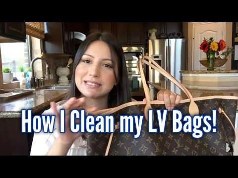 How I Clean my LV Canvas Bags!!