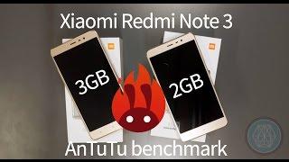 Xiaomi Redmi Note 3 3GB vs. Xiaomi Redmi Note 3 2GB - Antutu test
