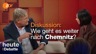 Meuthen und Göring-Eckardt über Chemnitz - Streitgespräch bei Dunja Hayali vom 05.09.2018 | ZDF