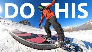 Do This To Get Better at Snowboard Tricks