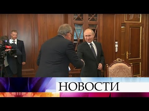Владимир Путин встретился с главой Банка ВТБ Андреем Костиным.