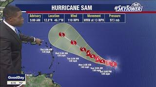 Hurricane Sam and Subtropical Storm Teresa update; September 25, 2021