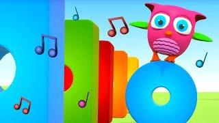 Зарядка для малышей - Песенка - розовый совенок Хоп Хоп.