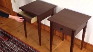 Handmade Shaker Style Walnut End Tables From Vermont