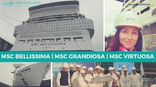 MSC Cruises und STX France feierten gleich drei wichtige Meilenstei...