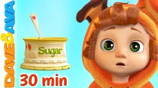 🍭 Johny, Johny, - Yes, Papa & More Nursery Rhymes | Baby Songs by Dave and Ava 🍭