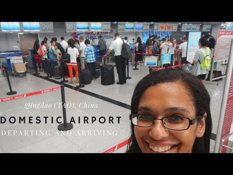 How to navigate Qingdao (TAO) domestic airport + catching a cab upon arrival