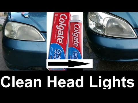 Clean Old Headlights with Toothpaste