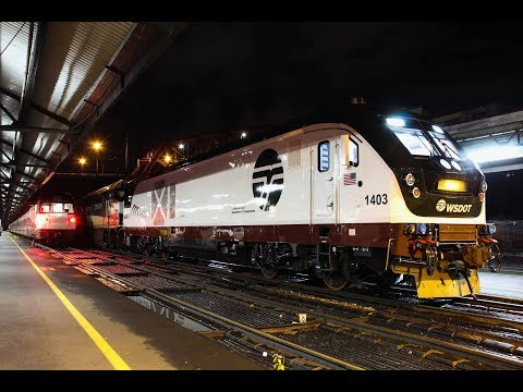 New Siemens Charger Leads Amtrak 507 South: A 2nd NIGHT OF CHARGING (HD)