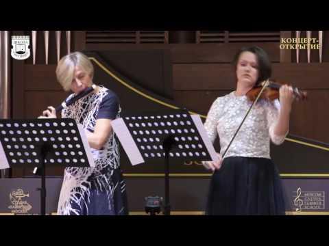 Bach - Trio sonata for flute, violin and Basso continuo, BWV 1038