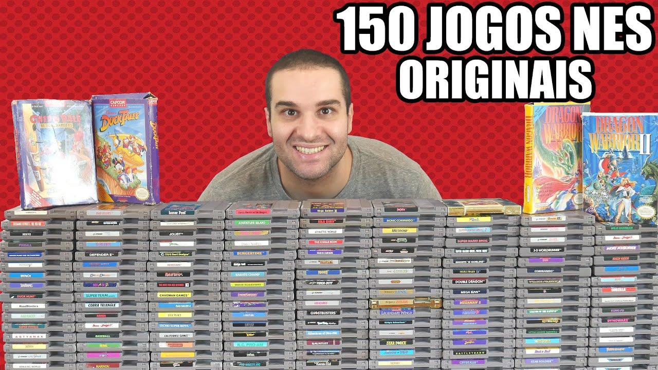 Minha Coleção De Nintendinho / NES - 150 Jogos Originais Americanos