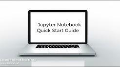 Jupyter Notebook Quick Start Guide