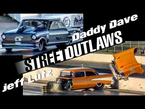 Jeff Lutz wrecks vs Daddy Dave at the Memphis Street Outlaws No Prep