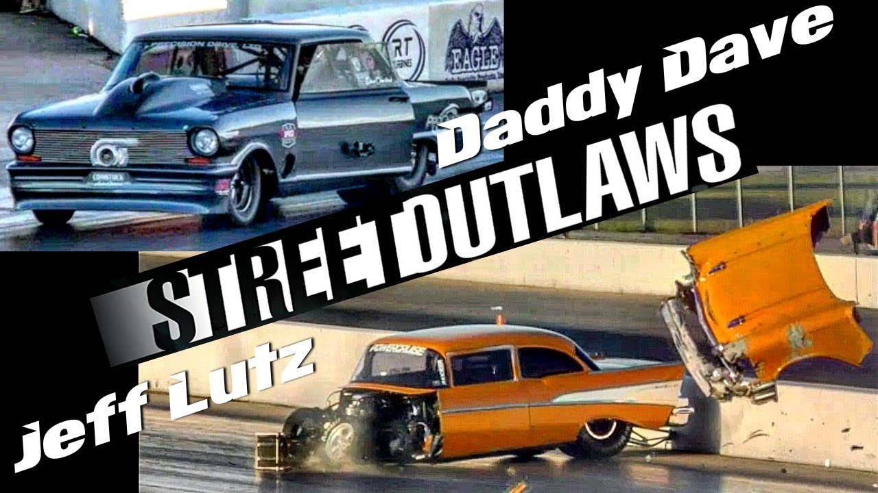 Jeff Lutz wrecks vs Daddy Dave at the Memphis Street Outlaws No ...