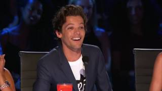 AGT Judges Cuts : Louis Tomlinson's Gives Golden Buzzer to Jayna Brown| Amazing singer
