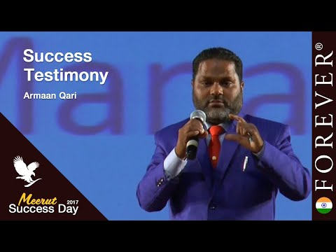 Business Testimony by Armaan Qari at Meerut Success Day