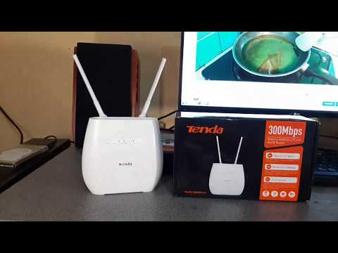 Unboxing Router / Modem GSM 4G LTE And VOLTE Tenda 4G680