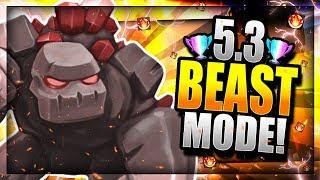 Golem Madness!! 5.3 Elixir God Mode Deck!! Clash Royale Golem Three Musketeers D