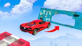 IMPOSSIBLE GTA 5 CAR STUNTS! - (GTA V Stunts & Fails)