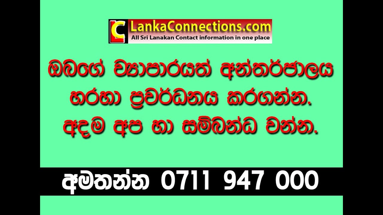 business plan sinhala sri lanka online business promotion advertising service