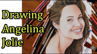 Drawing of Angelina Jolie