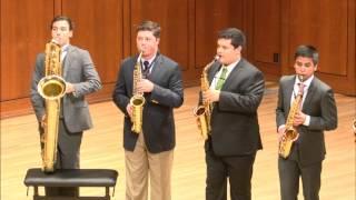 UT Saxophone Ensemble plays Jupiter by Gustav Holst