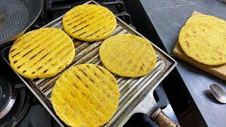 exquisitas arepas de maíz pelao - arepas de pelao - arepas santandereanas - rosita cocina