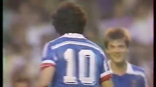 Франция Сборная мира прощальный матч Платини 1988 Комментатор Денис Цаплинд