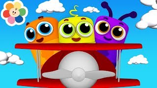 Colors for Children to Learn with Magical Crayons on Airplanes | Nursery Rhymes by Color Crew Babies